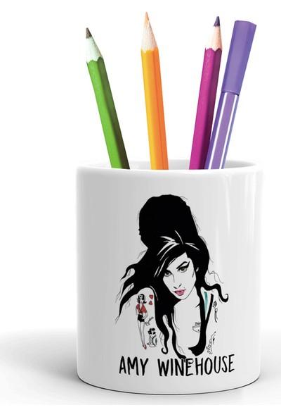 2K Dizayn Amy Winehouse Tasarım Seramik Kalemlik