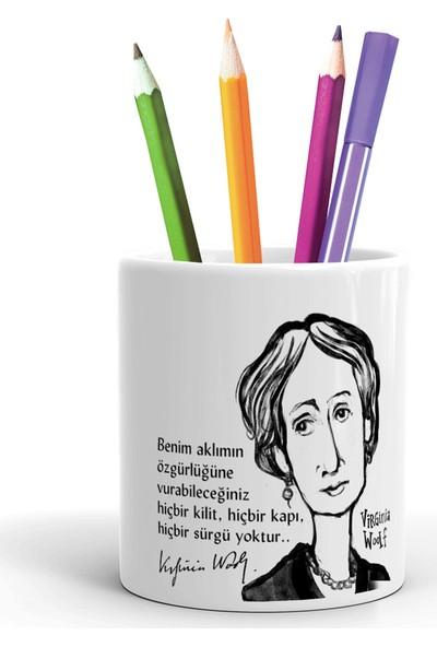 2K Dizayn Virginia Woolf Tasarım Seramik Kalemlik