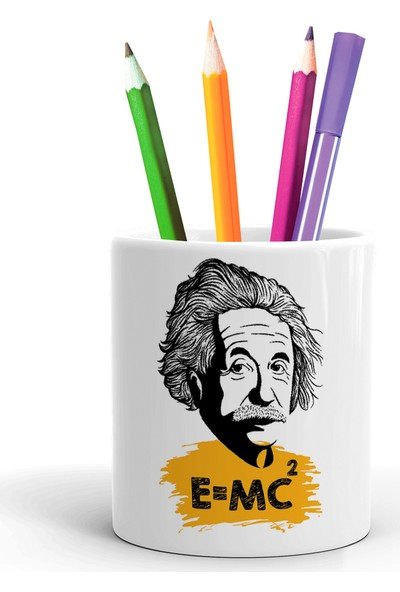 2K Dizayn Albert Einstein E=mc2 Tasarım Seramik Kalemlik