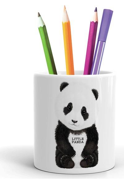 2K Dizayn Panda Tasarım Seramik Kalemlik