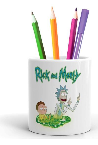 2K Dizayn Rick And Morty Tasarım Seramik Kalemlik