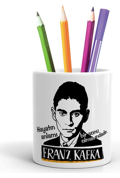 2K Dizayn Franz Kafka Tasarım Seramik Kalemlik