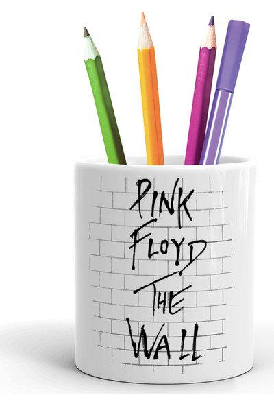 2K Dizayn Pink Floyd The Wall Tasarım Seramik Kalemlik