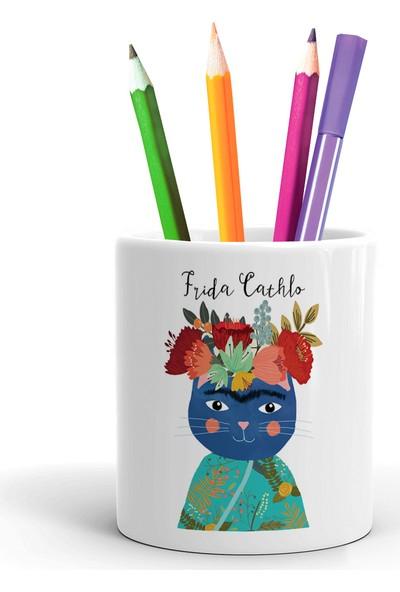 2K Dizayn Frida Cathlo Tasarım Seramik Kalemlik