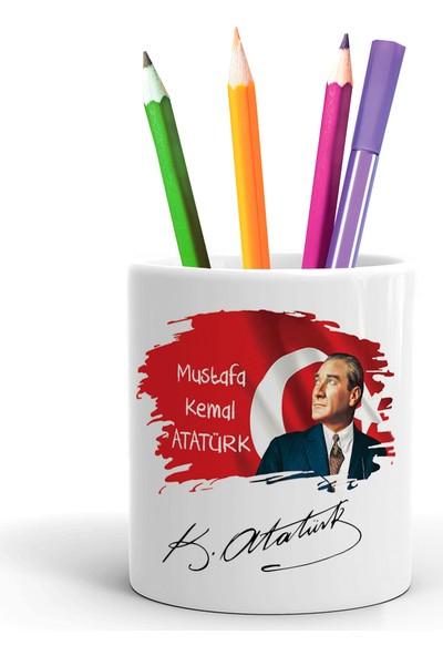 2K Dizayn Atatürk Tasarım Seramik Kalemlik