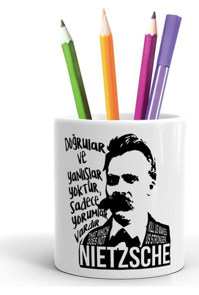 2K Dizayn Nietzsche Tasarım Seramik Kalemlik