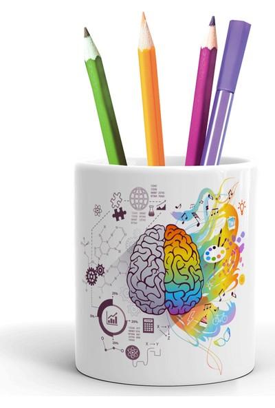 2K Dizayn Sanatsal ve Teknik Beyin Tasarım Seramik Kalemlik