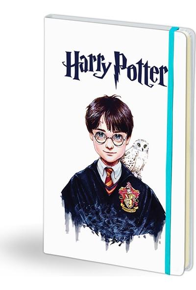 2K Dizayn Harry Potter Tasarım Beyaz Deri Defter
