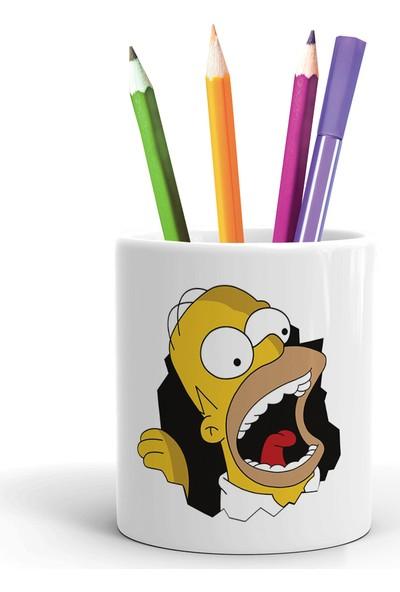 2K Dizayn Homer Simpson Tasarım Seramik Kalemlik