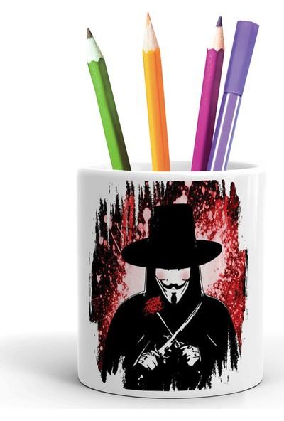 2K Dizayn V For Vendetta Tasarım Seramik Kalemlik