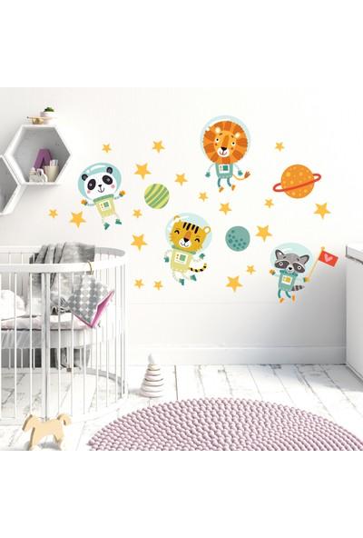 Sim Tasarım Uzay Temalı Çocuk Duvar Odası Stickerı