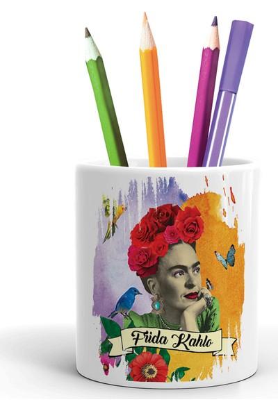2K Dizayn Frida Kahlo Tasarım Seramik Kalemlik