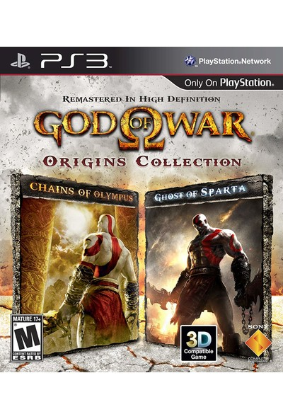 God Of War Origins Collection Remastered In High Definition PS3 Oyun