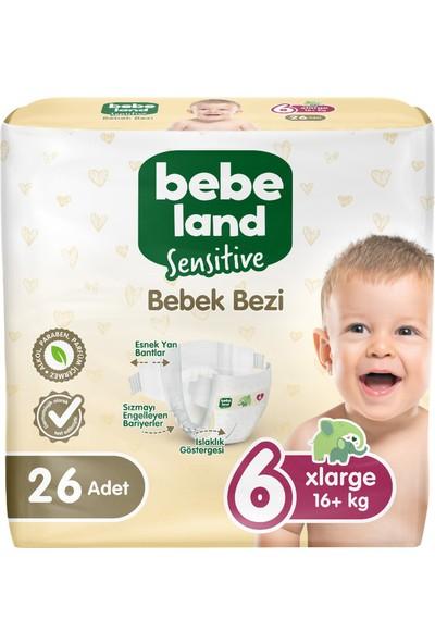 Bebeland Sensitive Bebek Bezi 6 Numara 26 Adet