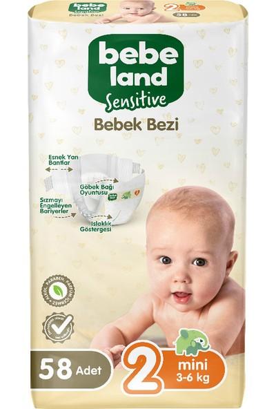 Bebeland Sensitive Bebek Bezi Midi 2 Numara 58 Adet
