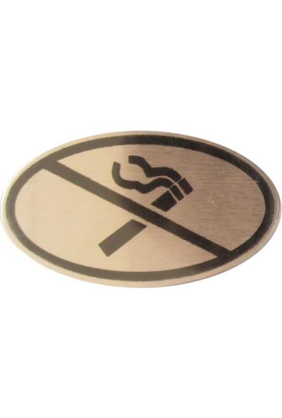 Leva House Sigara Içilmez Uyarı Levhası Paslanmaz Çelik