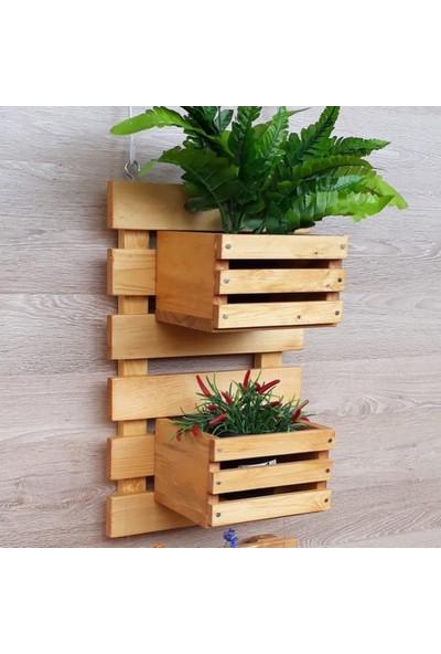 Woodensa Ahşap Saksı Standı Çiçeklik