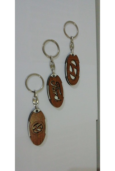 Pınar Store Toptan Ahşap Anahtarlık Hediyelik Model Anahtarlık-126 Adet + Anahtarlık Stand