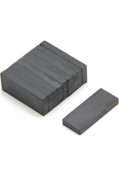 Dünya Magnet Ferrit Mıknatıs Blok 25 x 10 x 4 mm 10`lu