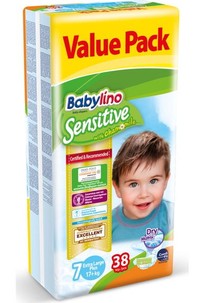 Babylino Sensitive Bebek Bezi 7 Beden Ekstra Large Plus 38 Adet