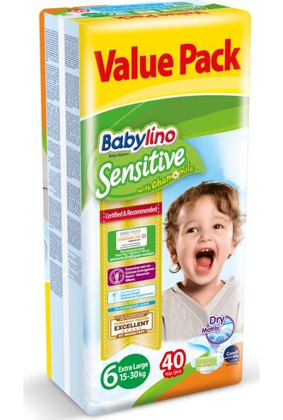 Babylino Sensitive Bebek Bezi 6 Beden Ekstra Large 40 Adet