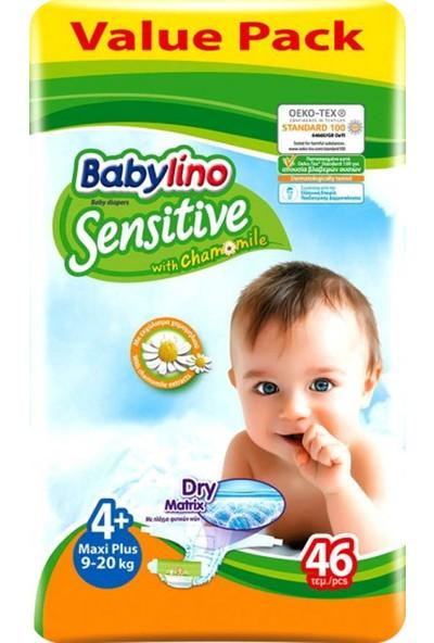 Babylino Sensitive Bebek Bezi 4+ Beden Maxi Plus 46 Adet