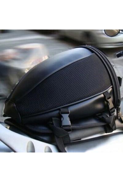 Carneil Motosiklet Arka Koltuk Çantası Deri Su Geçirmez + Omuz Askılı El Çantası