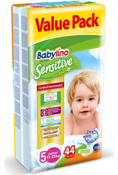 Babylino Sensitive Bebek Bezi 5 Beden Junior 44 Adet