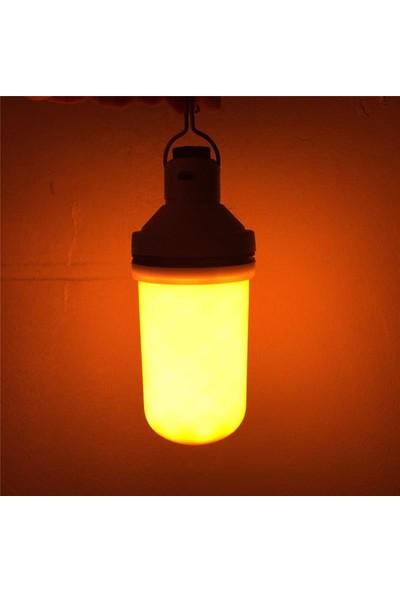 Alev Efektli Sensörlü Dekoratif LED Lamba USB Şarjlı