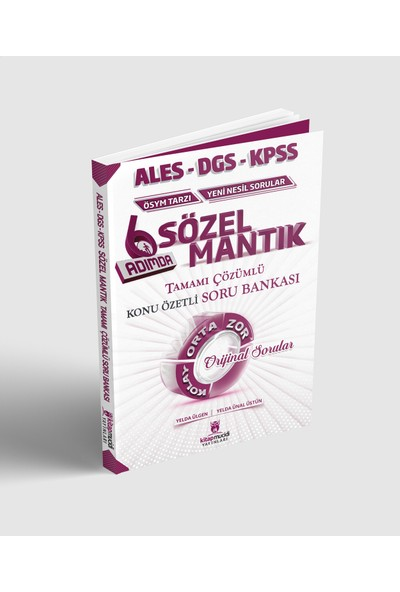 Kitap Mucidi Yayınları 2020 KPSS Ales DGS Sözel Mantık Konu Özetli Soru Bankası Çözümlü