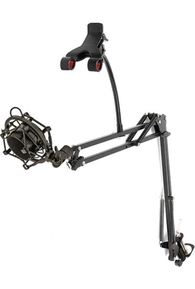 Lastvoice Set - 02 Mikrofon Standı Sehpası + Shock Mount - Telefon Aparatlı