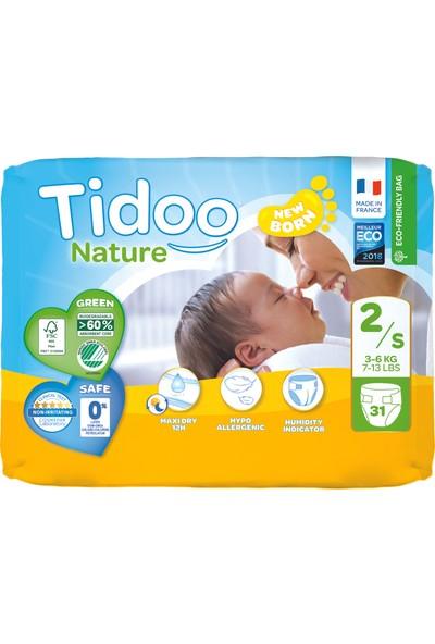 Tidoo Hipoalerjenik-Ekolojik Bebek Bezi No:2 Mini Single 3-6 kg