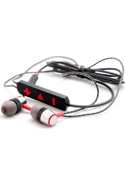 Blue Spectrum BM-818 Kulakiçi Mikrofonlu Kulaklık - Kırmızı