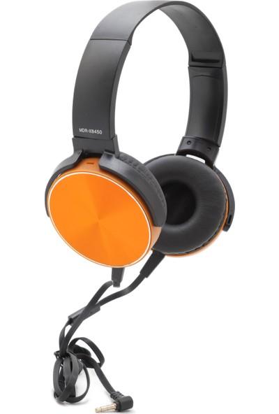 MDR-XB450AP Extra Bass Mikrofonlu Kulaklık - Turuncu