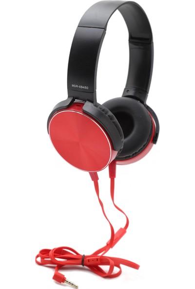 MDR-XB450AP Extra Bass Mikrofonlu Kulaklık - Kırmızı