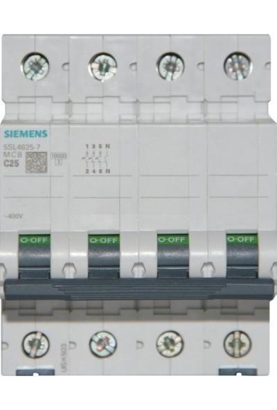Siemens Otomatik Sigorta C25A - 10Ka 70Mm - 5Sl4625-7 - 3F+N