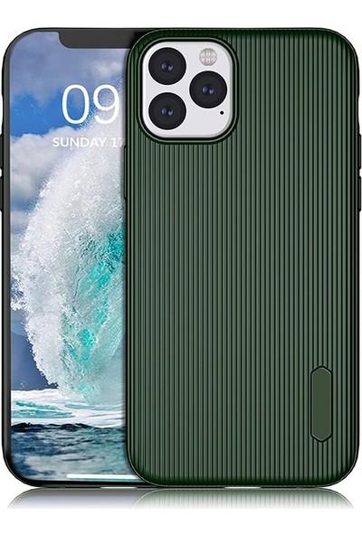 KNY Apple iPhone 11 Pro Kılıf Ultra Korumalı Lux Line Silikon + Cam Ekran Koruyucu Yeşil