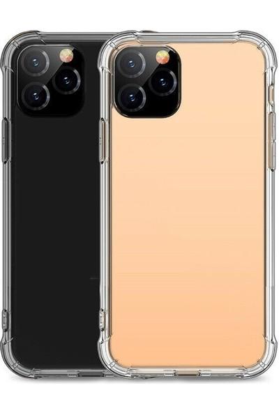 KNY Apple iPhone 11 Pro Kılıf Ultra Korumalı Şeffaf Antishock Silikon + Nano Cam Ekran Koruyucu Şeffaf