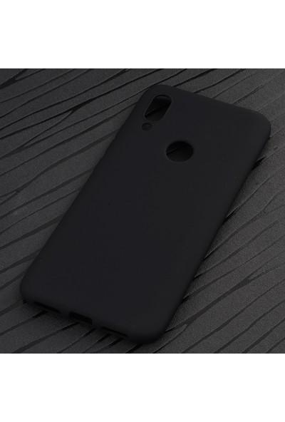 KNY Meizu Note 9 Kılıf Ultra İnce Mat Silikon + Nano Cam Ekran Koruyucu Rose Gold