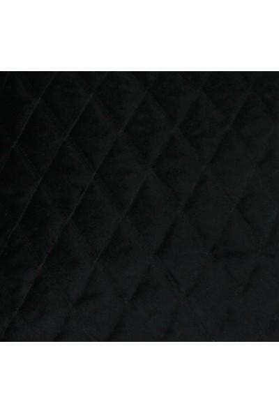 Mcalister Textiles Kapitone Kadife Yastık Kılıfı | Siyah Elmas Desen Lüks Kabartmalı Yumuşak Dokunuşlu Dekoratif Kırlent 50 x 30 cm
