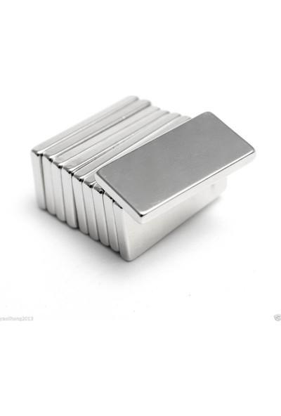 Spelt Çok Güçlü Neodymium Mıknatıs Ferrit Magnet Blok 20 x 10 x 2 mm