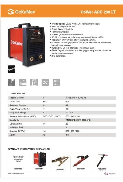 Gedik Kaynak Gekamac Arc 200 Lt Inverter Kaynak Makinesi 200 Amper