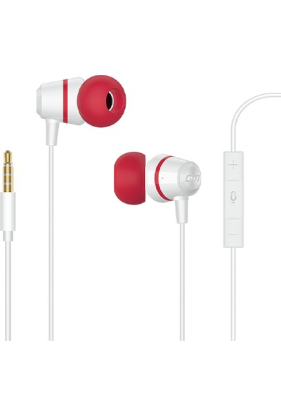 General Mobile Mikrofonlu Kulaklık - Beyaz-Kırmızı