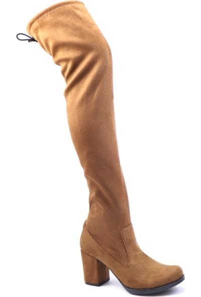 Carla Bella 700 Diz Altı Streç Çizme