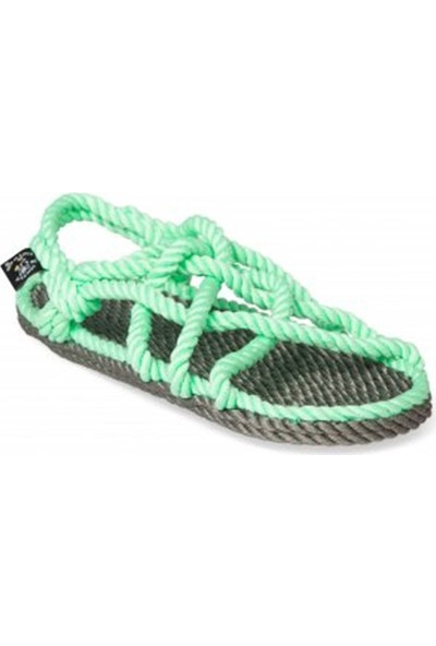 Nomadic State Of Mind Jc Gri Neon Yeşil Hasır İp Sandalet