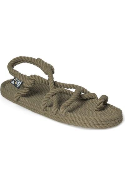 Nomadic State Of Mind Toe Joe Olive Hasır İp Sandalet
