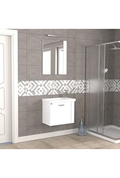 Biani Fix Maxila 60 cm Parlak Beyaz Banyo Dolabı