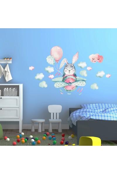 Sim Tasarım Pilot Tavşan Duvar Sticker Seti