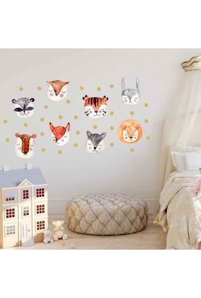 Sim Tasarım Safari Hayvanlar - 8li Set Duvar Sticker