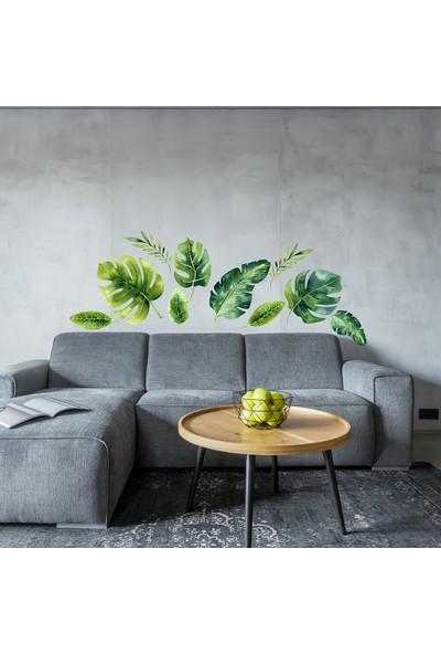 Sim Tasarım Tropikal Yapraklar Duvar Sticker Seti